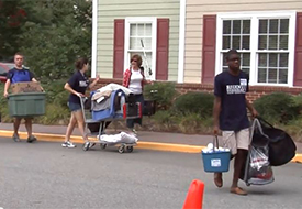 First-time Students Move onto Campus